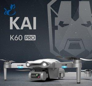 K60 Pro Дрон с GPS, 6K HD Двойная камера Электрическая регулировка, 5G Wi-Fi, 50 раз Увеличить, 2 оси Гимбаль, бесщеточный мотор, Smart Follow, 2-1