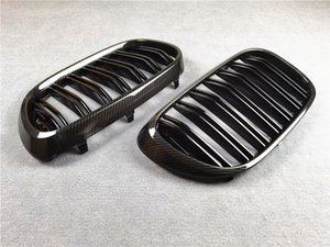 Pair 2 Styles M Color Car Black Front Mesh Grill Grille For BMW 7 Series G11 G12 2016-2019 ABS Material