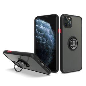 Kickstand 360 graus anel titular tpu pc casos de telefone celular translúcido para iphone 12 11 pro max xr xs x 8 7 mais samsung s21 note20 s20 nota10 A72 A52 A32 A12 A02S