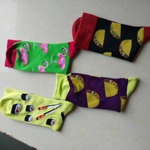 2021Men и Women All-Matchy Style Sport Socks Style Happy Свободное качество 2 шт. = 1 Комбичаемое хлопок Businness Случайные Comfortabl