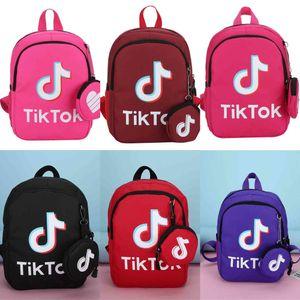 Tik Tok Kids Backpack Children Girls Boys Tiktok School Bag Letter Printed Students Backpacks Canvas Shoulder Bags fanshion Crossbody Bags Schoolbag G4TR72K