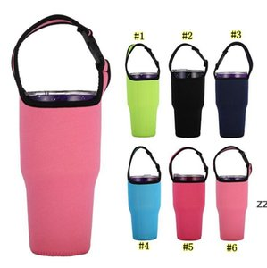 Neoprene Handheld Cup Cover Solid Color 30OZ Tumbler Water Bottle Sleeve Carrier Travel Mug Bag Case Pouch Warmer Thermal Cover HWF10419