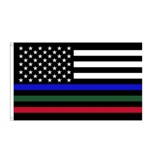 3x5ft Black American Flag Polyester No Quarter Will Be Given US USA Historical Protection Banner Flag Double-Sided Indoor Outdoor GWD10513