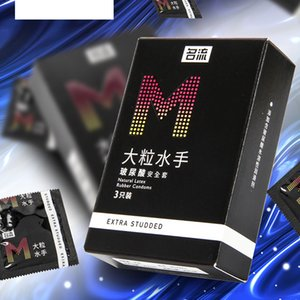 M 004 Large particles Sex Products lubrications for men and women 3 pack Rubber sleeve