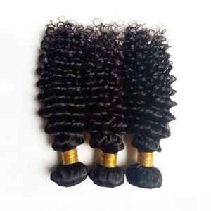 Unprocessed Brazilian European Virgin human hair weft best quality 8-26inch deep wave hair Sexy Mongolian Indian remy Hair extension DHgate