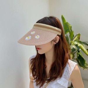 hats Parent child headless straw adult female sunscreen sun duck tongue children hat LOV