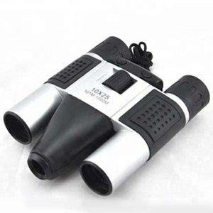 Portable 10x25 Black Binocular Telescope Digital DT08 لحفل كرة القدم مباراة كاميرات الفيديو