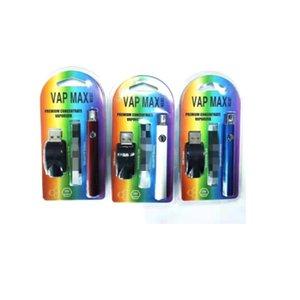 2021 Newest VAP MAX W3 Kit 350 мАч вершина предварительного нагрева В.В. Вариабельное напряжение 510 Предварительно нагревая Vape 0.5 мл 1 мл картридж