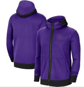 MEN Heathered jacket Trainning Basketall Authentic Earned Edition Showtime Therma Flex Performance Full-Zip Hoodie all teams a21