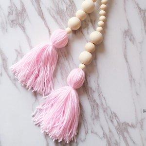 Ferme Décor Perles de Bois Pendil Suspensant Suspenses Sous-Perles Nordic Creative Corde Perles Enfants Home Décoratif DHC7157
