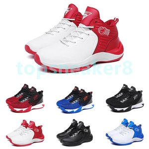 2021 Fashion Premium Outdoor Thick Soled Basketball Shoes Three Black White Blue Red Men's Sneakers 40-44