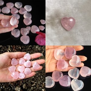 Natural Rose Quartz Heart Shape Mini Crystal Chakra Home Decor Reiki Healing Stone Love Gems DIY Jewelry 85 G2 5HJT FGGO