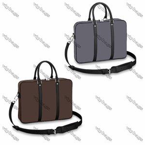 M41478 BRIEFCASE Men Documents bags Box Messenger Purse Cowhide Designer handbag portfolio attache case tote Shoulder Bag
