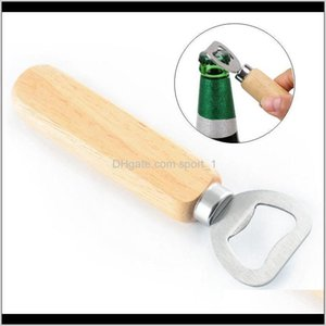 Openers Kitchen Tools Kitchen Dining Bar Home Garden Drop Delivery 2021 Wood Handle Stainless Steel Party Beer Wine Bottle Opener Friendly St