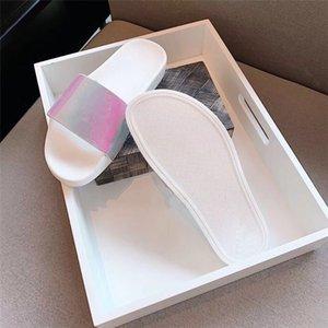Kadınlar Dway Slayt Terlik Ramour Siyah Ve Bej Işlemeli Pamuk Düz Sandles En Kaliteli Deri Taban Gümüş Metalik Ayakkabı Renkli