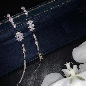 Chokers Original Design High Sense Fashion Temperament Flower Zircon Clavicle Chain Light Luxury Choker Necklace Female