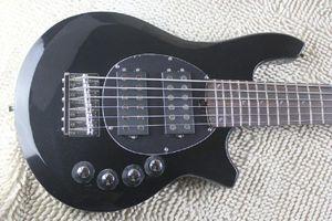 ww Top Qulity Music Man Bongo Metal black 6 Strings Active Pickups Bass Guitar Musicman Bass Guitar