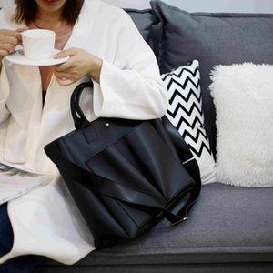 Neue PU-Leder-Laptoptasche Simple Handtaschen Berühmte Marken Frauen Umhängetasche Lässige Große Tote Vintage Damen Crossbody Bags LJ210203