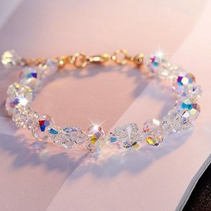 Colorful From Flanders Crystal Beads Bracelets Women Sweet Temperament Crafts Bracelet Bangles Charms Jewelry Making