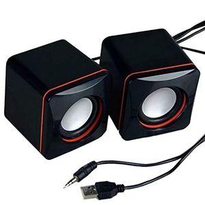 Mini Portable USB Wired Desktop PC Speaker Music Player Loudspeaker 3.5mm Multimedia Speakers For Tablet Computer Notebook