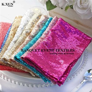 45x45cm Sequin Napkin For Banquet Table Cloth Wedding Event Party Decoration