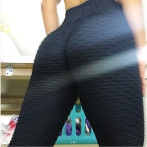 Wholesale women High Waist Leggins Sexy Hip Push Up Leggings Workout Clothing Solid Breathable Classic Long Trousers Fitness Tights Plus Size 9527