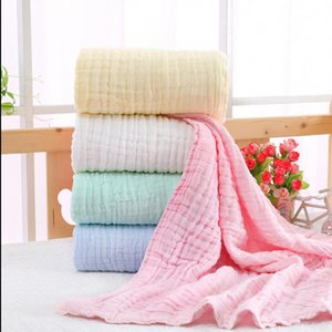 Muslin Baby Blankets 6 Layer Cotton Swaddle Newborn Baby Swaddling Wrap Baby Towel Infant Stroller Cover Bedding Sheet 5 Colors 100pcs 5599