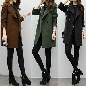 Women's Trench Coats Spring Warm Female Overcoat Medium-Long Women Slim Type Coat Double-breasted Outfit