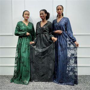 Ladies Kaftan Dubai Abaya Turkish Hijab Muslim Dress African Dresses For Women Caftan Islamic Clothing Robe DFF0204