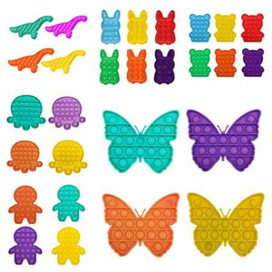 35 Designs It Fidget Push Bubble Toys Adult Kids Butterfly Dinosaur Shaped Pop Sensory Toy Autism Special Needs Stress Reliever 7WHN