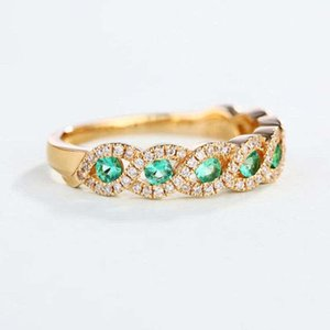 Cluster Rings Gorgeous Green Ring Jewelry Size 6-10 For Women Wedding Engagement Gift