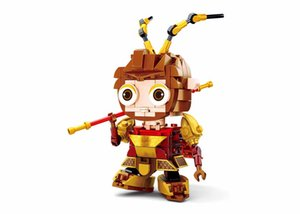 Kids Assembly Mini Building Blocks Chinese Peking Opera Characters Figure Toys Cartoon Anime Model Gifts Wholesale for Children