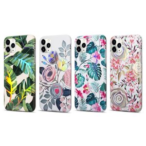 For Iphone 12 Pro Max Phone Cases IMD Hard Laser flower painting 11 11pro 11promax XR XS TPU+PC With oppbags