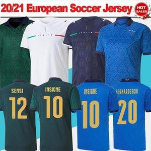 2020 2021 إيطاليا Soccer Jersey Incobile Insigne Chiellini Bonucci Italia Soccer Shirt Nation Team 21/22 الصفحة الرئيسية بعيدا
