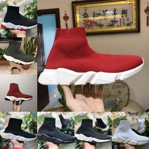 Продают 2021 Новый Скоростный тренажер Черный Красный Роскошный Высокий Повседневная Носка Обувь Мужчины Дешевые Моды Париж Дизайнер Кроссовки Высокое Качество EUR36-45