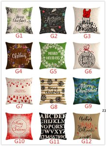 147 Styles Pillow Case Cover Christmas Cushion Covers New Linen Sofa Pillowcase Cushion Cover Xmas Gift Home Decor HWF10289
