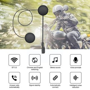 Walkie Talkie 900mah Long Standby Motorcycle Bluetooth 5.0 Headset Wireless Helmet Automatic Connection Riding J8x8
