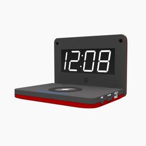 Smart Travel Складная Ци Беспроводная Зарядка LED Цифровой будильник