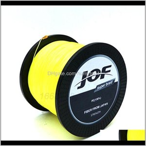 Monofilament Lines Sports Outdoors Strands Weaves 1000M Extrem Strong Japan Multifilament Pe 8 Braided Fishing Line 15 20 40 50 60 120