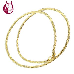Twist Rope Necklace Pendant Real 925 Sterling Silver Jackpot Fashion Long Chain Neckalce Jewelry Women Men 2021 Arrival R08 Chains