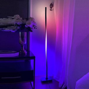 Floor Lamps Modern RGB Dimming LED For Living Room Standing Pole Light Bedrooms Offices Bright Indoor Decor Lamp