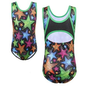 BAOHULU Gymnastics Leotards for Girls Sparkle Athletic Clothes Activewear One Piece Sleeveless Practice Ballet Dance Bodysuit