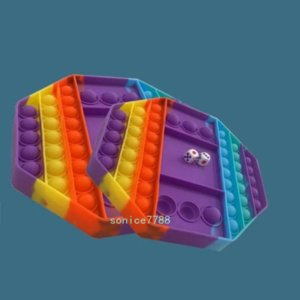 DHL 20 * 20cm 큰 게임 레인보우 체스 보드 감압 장난감 푸시 거품 포퍼 fidget 감각 장난감 스트레스 해제 대화 형 파티 게임 sensorytoys