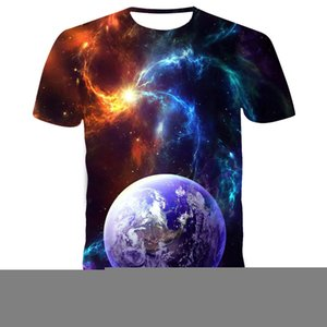 men's and womens ClothingSummer Style print T Shirt 3D Star Galaxy Universe Space Printing Clothes for Men Short Sleeved Top Tees T-shirt S-6XL HEFA