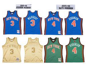 Custom stitched basketball Jersey 3 Stephon Marbury 4 Nate Robinson Mitchell & Ness 2005-06 Hardwoods Classics retro Men women and youth S-6XL wear