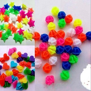Polychromatic Spoke Accesories Colorful Star Heart Shaped Clip Bead Cycling Woman Man Bicycle Chain Decoration 0 7gt K2