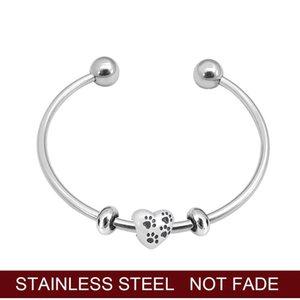 Heart Infinity Love Bracelets 100% Stainless Steel Dog Pet Charm Bangle For Women Fashion Jewelry