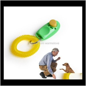 Obedience Home & Garden Drop Delivery 2021 Dog Button Clicker Sound Trainer With Wrist Band Aid Guide Pet Click Training Tool Dogs Supplies 1
