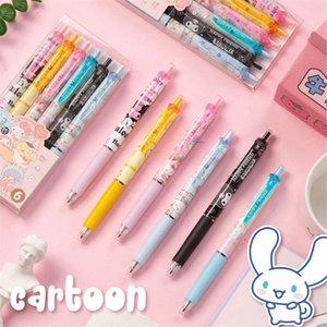 Set Sanliou Press Neutral Pen Kulomi Jade Guigou Cute Girl Heart Black Water 0.5mm