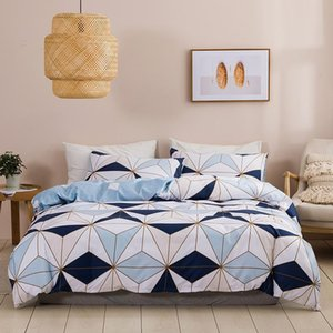 Nordic Style Lattice Bedding Set Duvet Cover King Size High Quality Comforter Bed Queen Geometric Pattern Quilt Sets